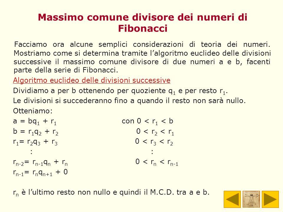 Massimo comune divisore dei numeri di Fibonacci