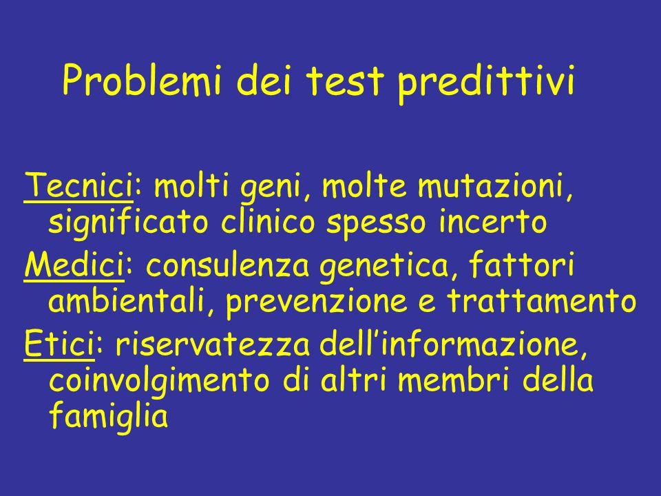 Problemi dei test predittivi