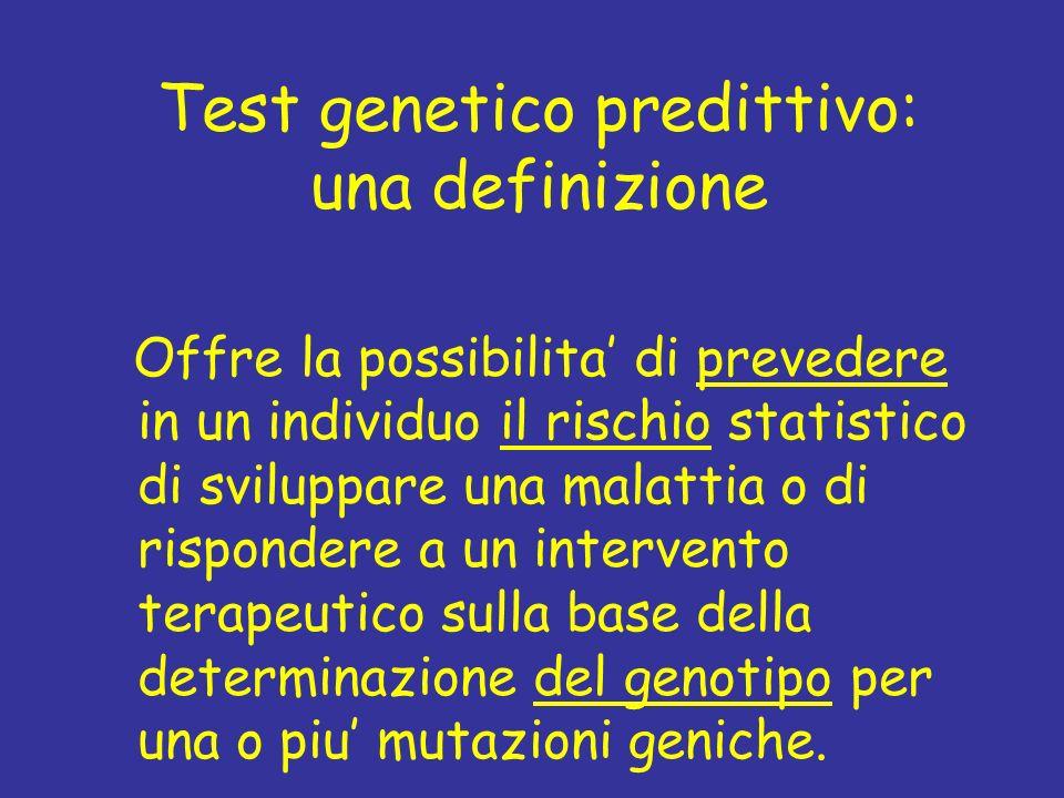 Test genetico predittivo: una definizione