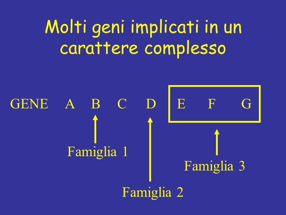 Molti geni implicati in un carattere complesso