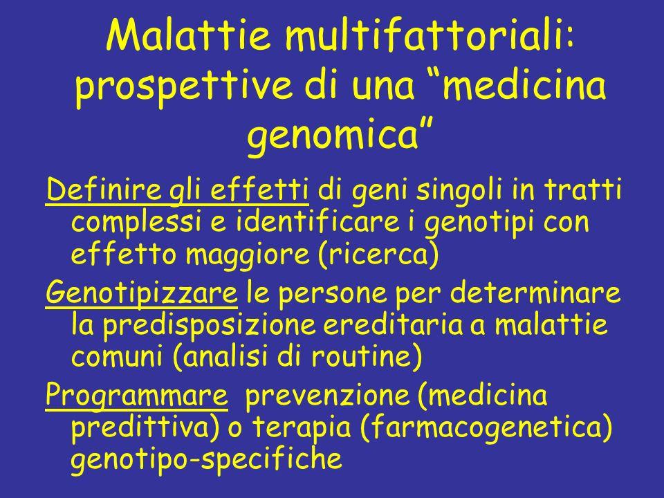 Malattie multifattoriali: prospettive di una medicina genomica