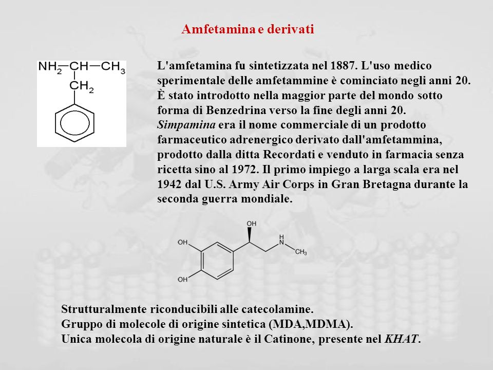 Amfetamina e derivati