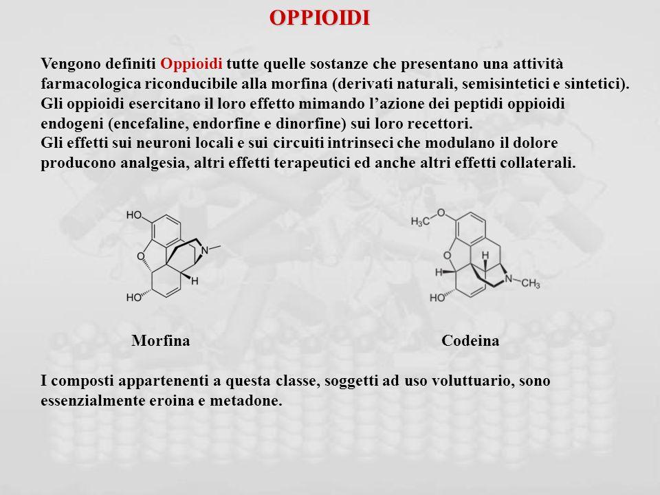 OPPIOIDI Vengono definiti Oppioidi tutte quelle sostanze che presentano una attività.