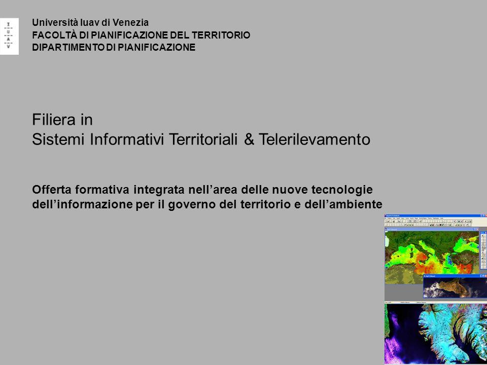 Sistemi Informativi Territoriali & Telerilevamento