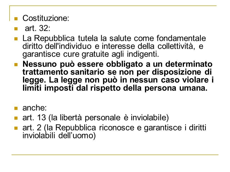 Costituzione: art. 32: