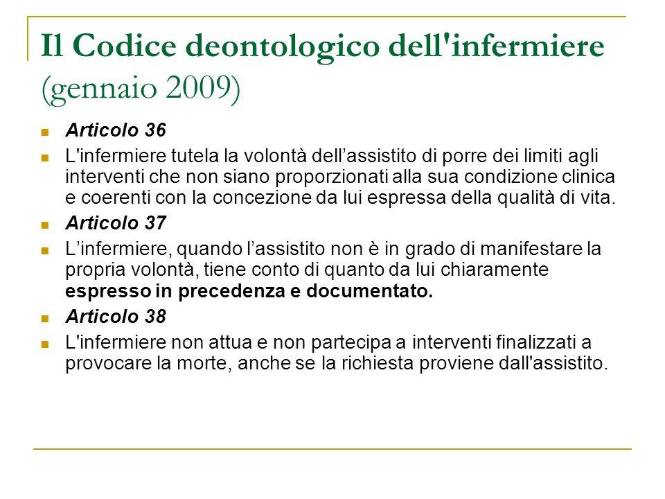 Il Codice deontologico dell infermiere (gennaio 2009)