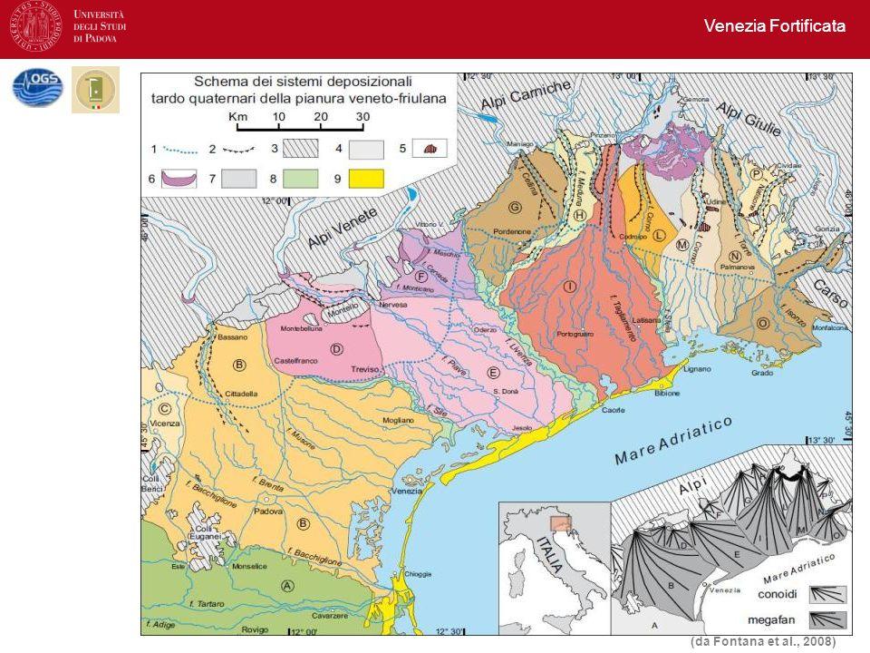 Venezia Fortificata (da Fontana et al., 2008)