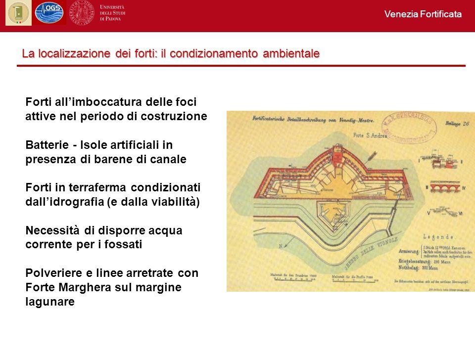 La localizzazione dei forti: il condizionamento ambientale