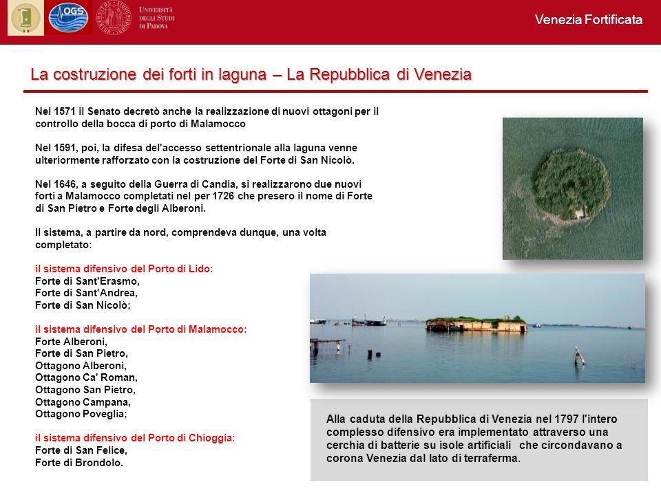 La costruzione dei forti in laguna – La Repubblica di Venezia