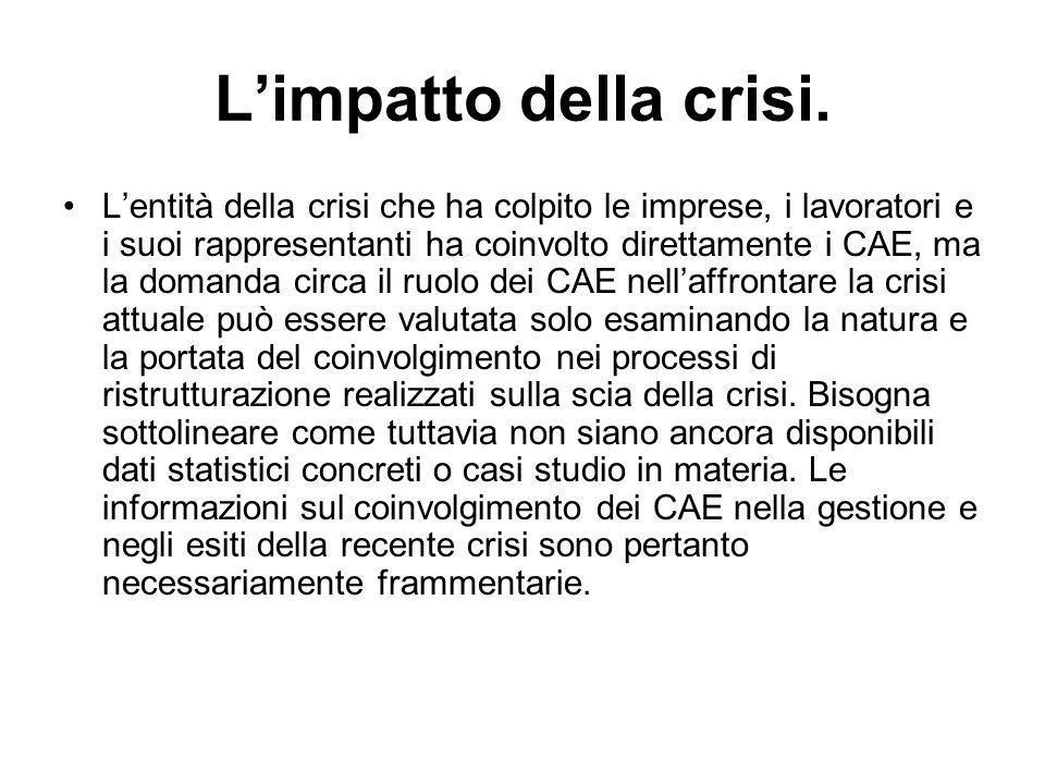 L'impatto della crisi.