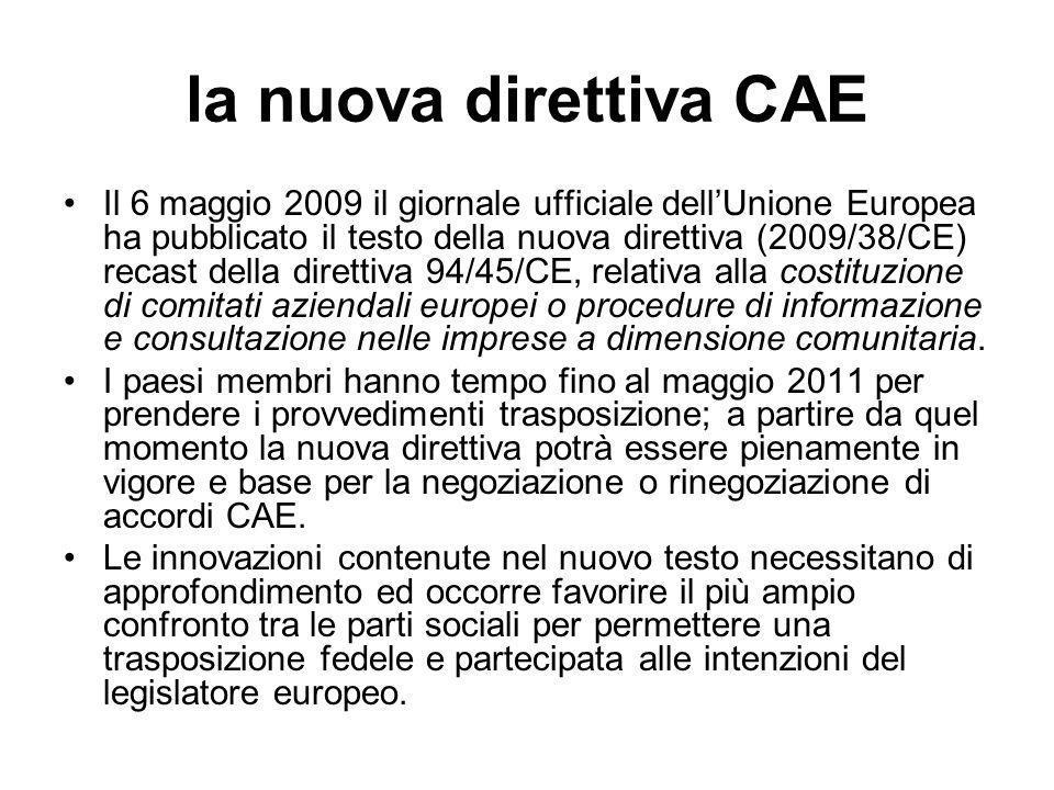 la nuova direttiva CAE