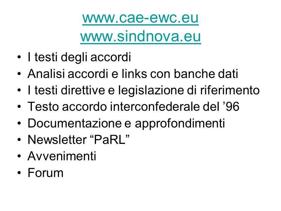 www.cae-ewc.eu www.sindnova.eu