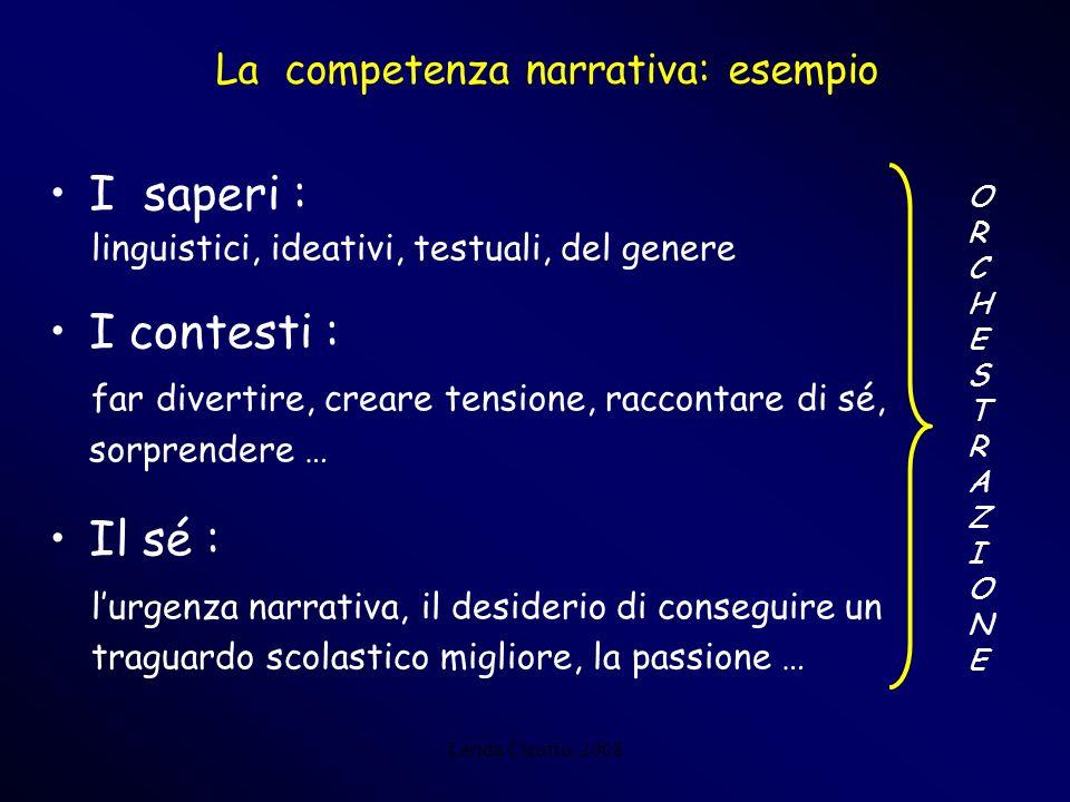 La competenza narrativa: esempio