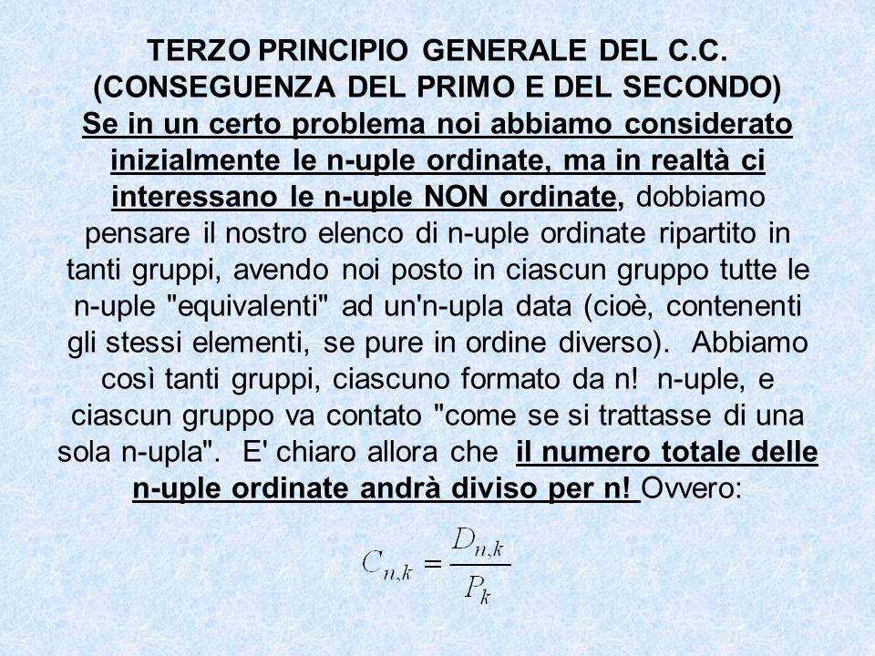 TERZO PRINCIPIO GENERALE DEL C. C
