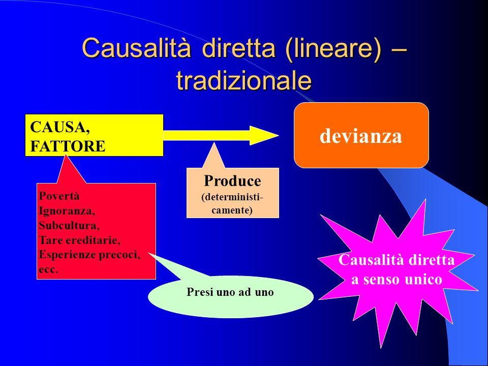 Causalità diretta (lineare) – tradizionale