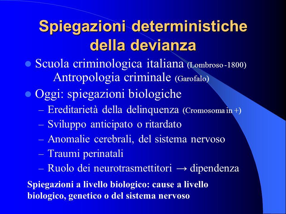 Spiegazioni deterministiche della devianza
