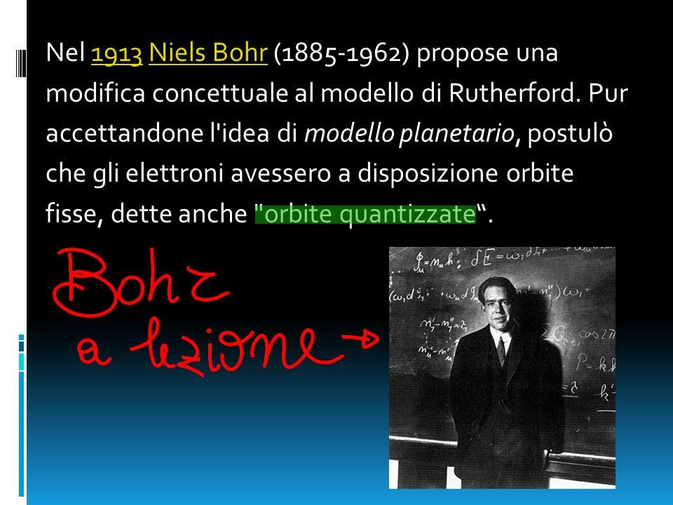 Nel 1913 Niels Bohr (1885-1962) propose una