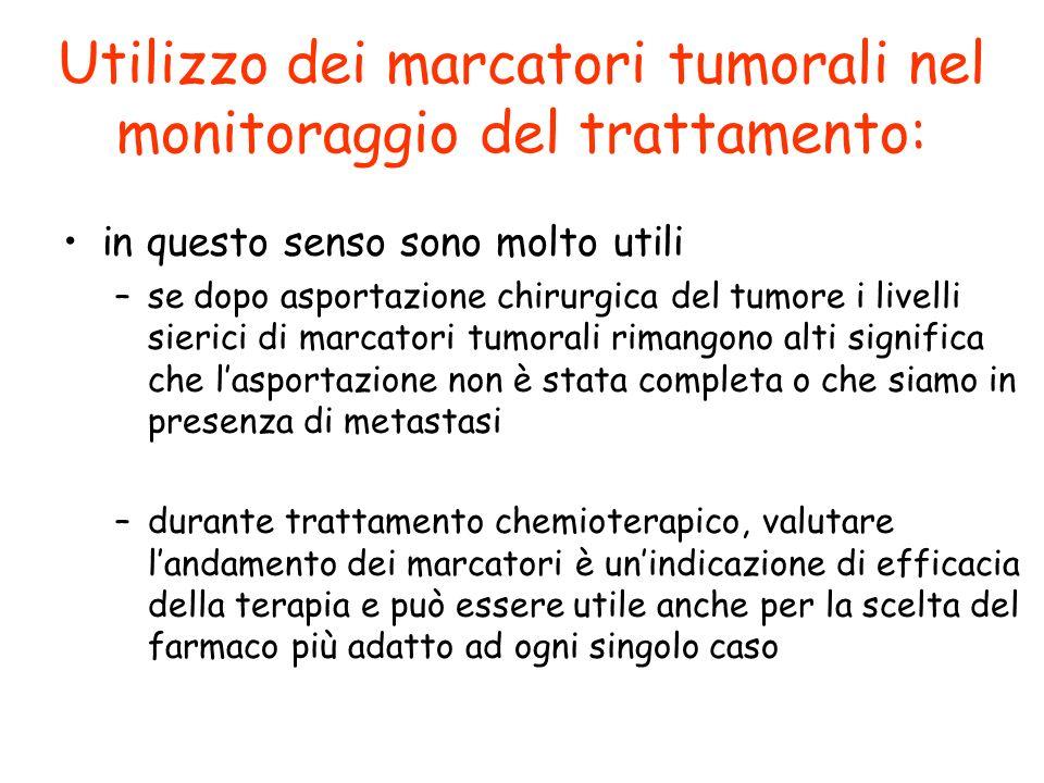 Utilizzo dei marcatori tumorali nel monitoraggio del trattamento:
