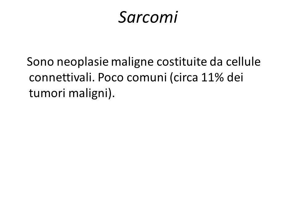 Sarcomi Sono neoplasie maligne costituite da cellule connettivali.