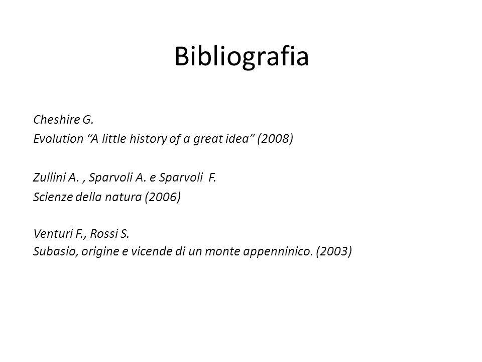 Bibliografia Cheshire G.