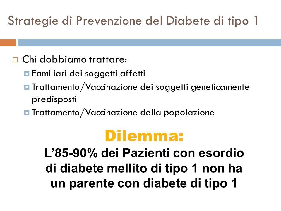 Strategie di Prevenzione del Diabete di tipo 1