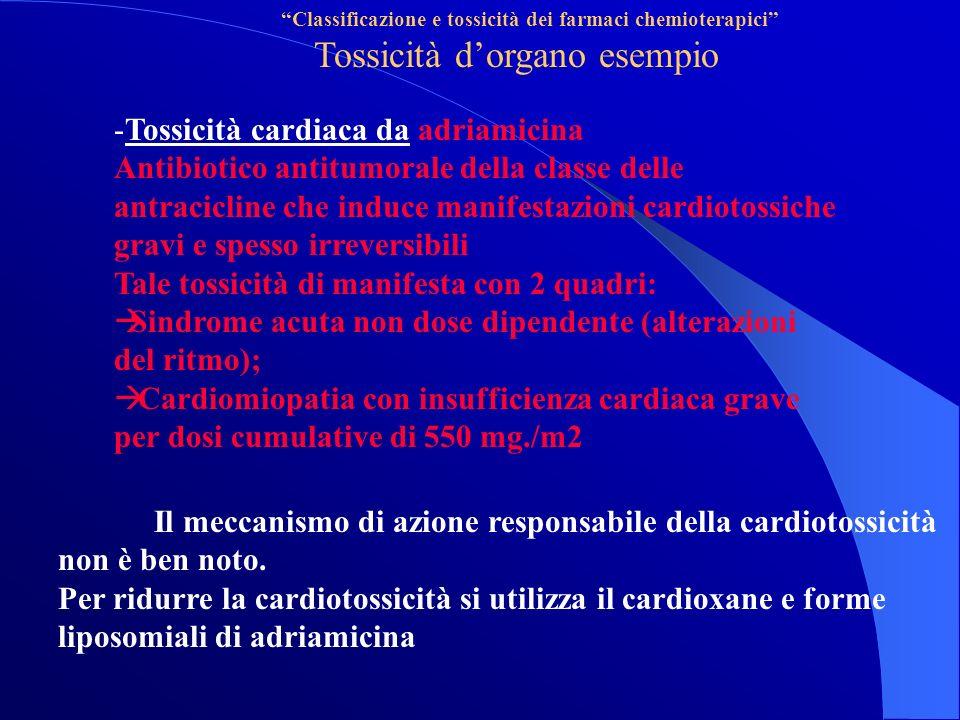 Tossicità d'organo esempio