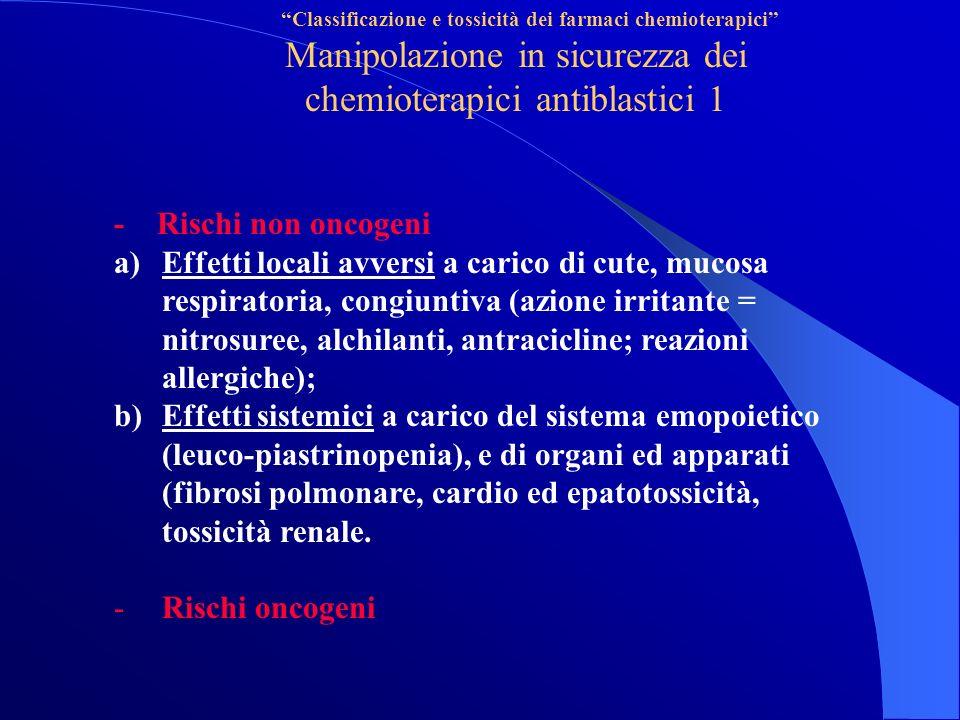 Manipolazione in sicurezza dei chemioterapici antiblastici 1