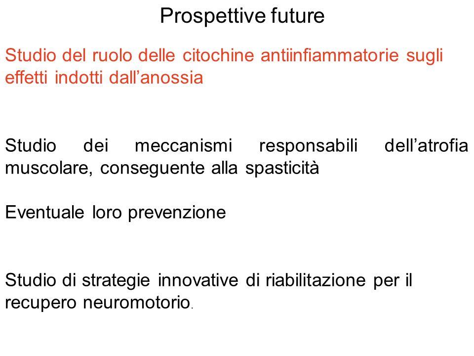 Prospettive future Studio del ruolo delle citochine antiinfiammatorie sugli. effetti indotti dall'anossia.