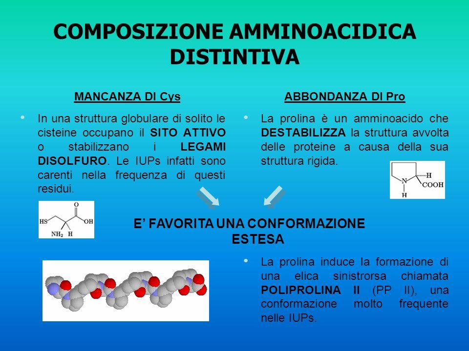 COMPOSIZIONE AMMINOACIDICA DISTINTIVA