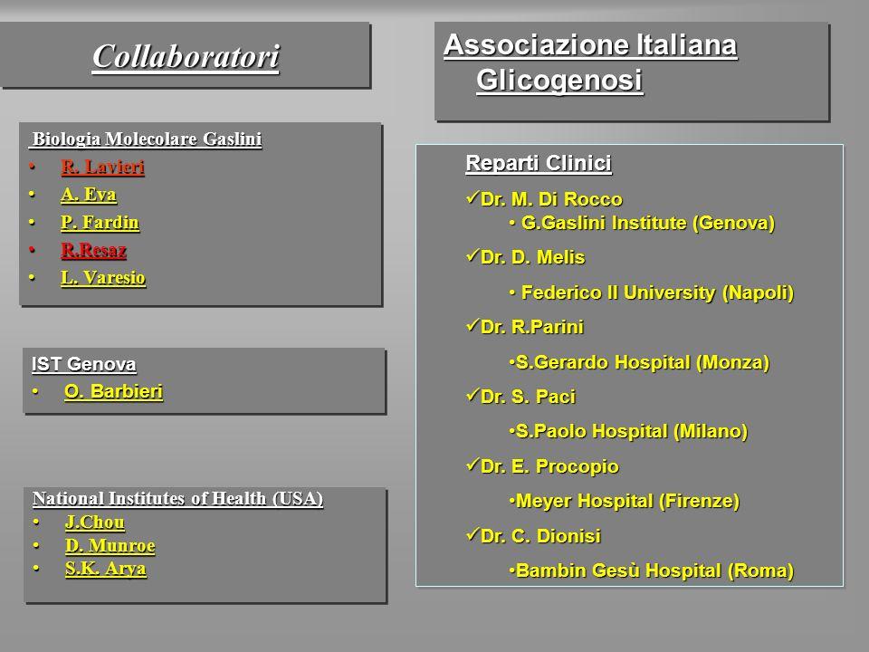 Collaboratori Associazione Italiana Glicogenosi Reparti Clinici