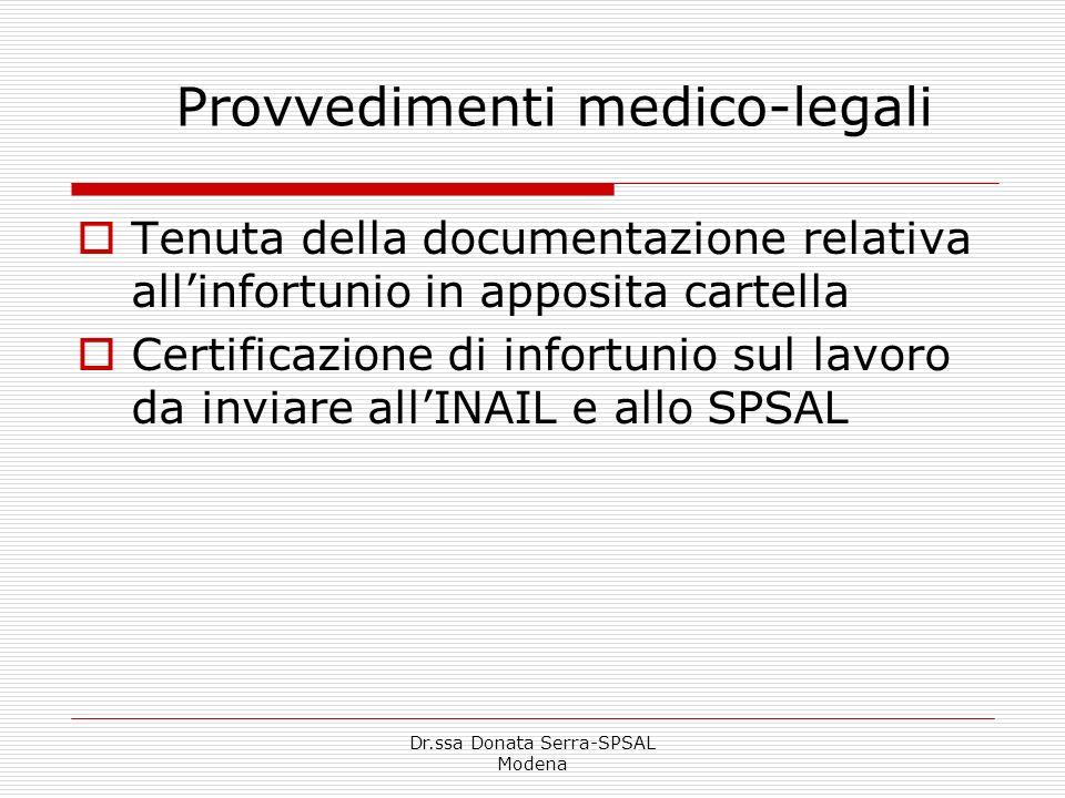 Provvedimenti medico-legali