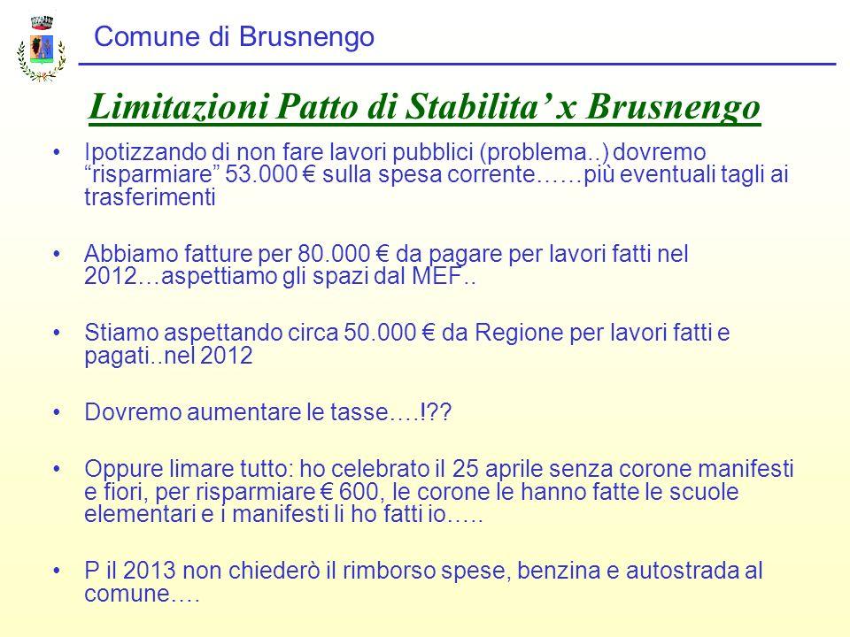 Limitazioni Patto di Stabilita' x Brusnengo