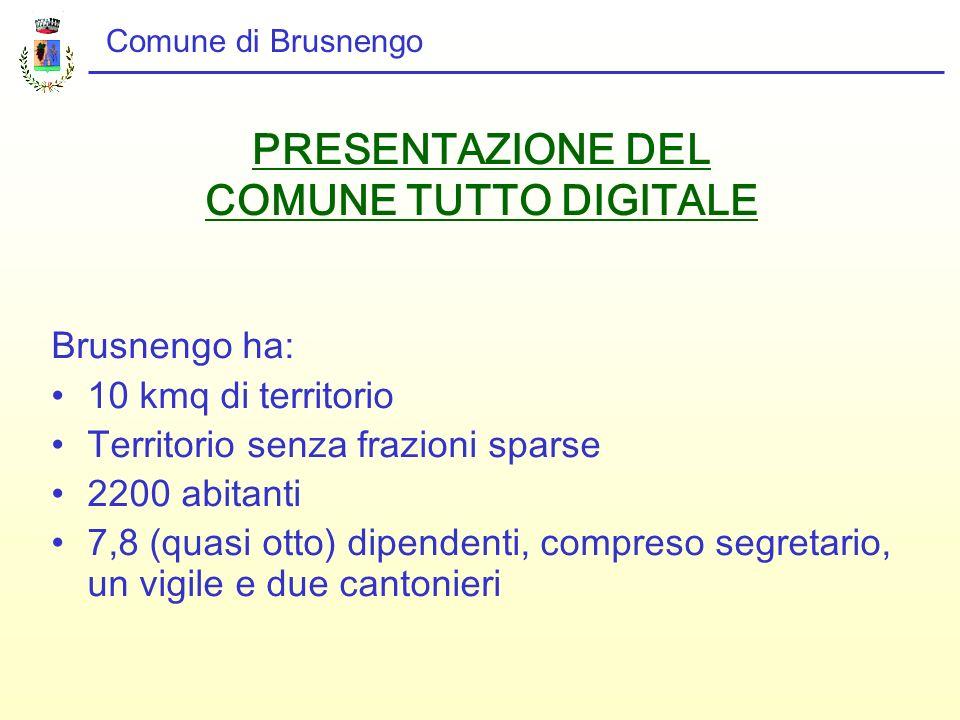 PRESENTAZIONE DEL COMUNE TUTTO DIGITALE
