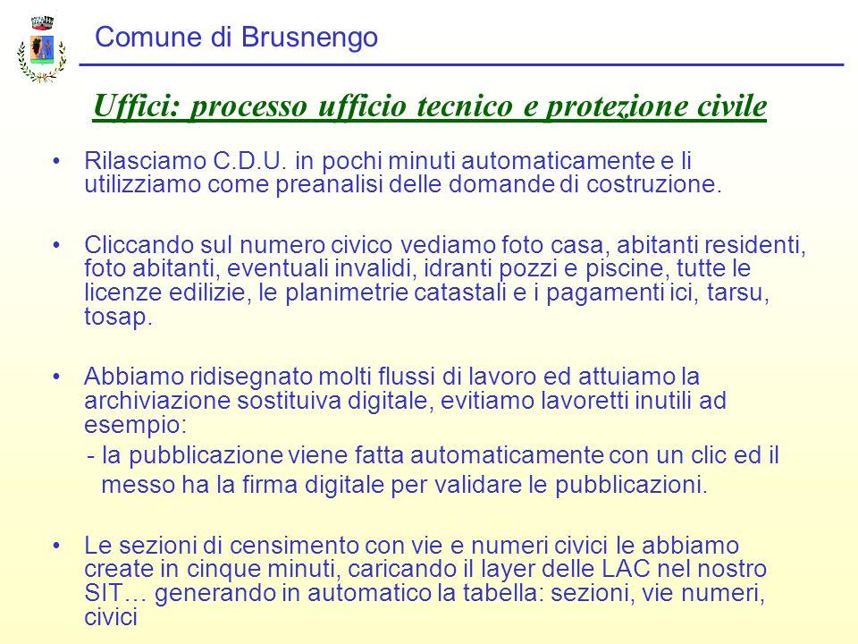 Uffici: processo ufficio tecnico e protezione civile