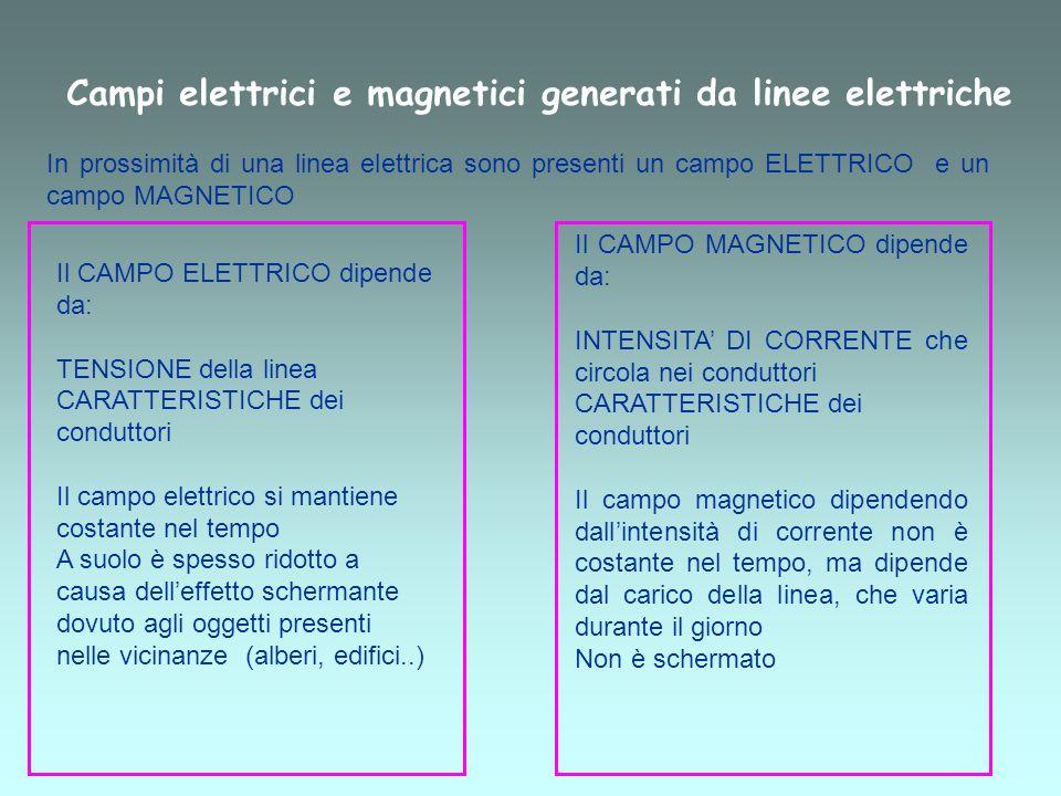 Campi elettrici e magnetici generati da linee elettriche