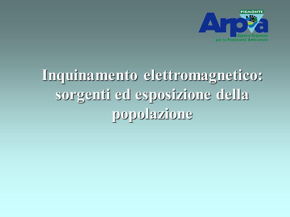 Inquinamento elettromagnetico: sorgenti ed esposizione della popolazione