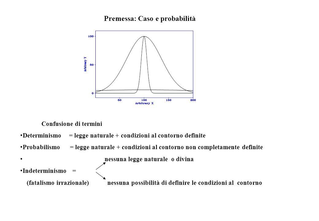 Premessa: Caso e probabilità