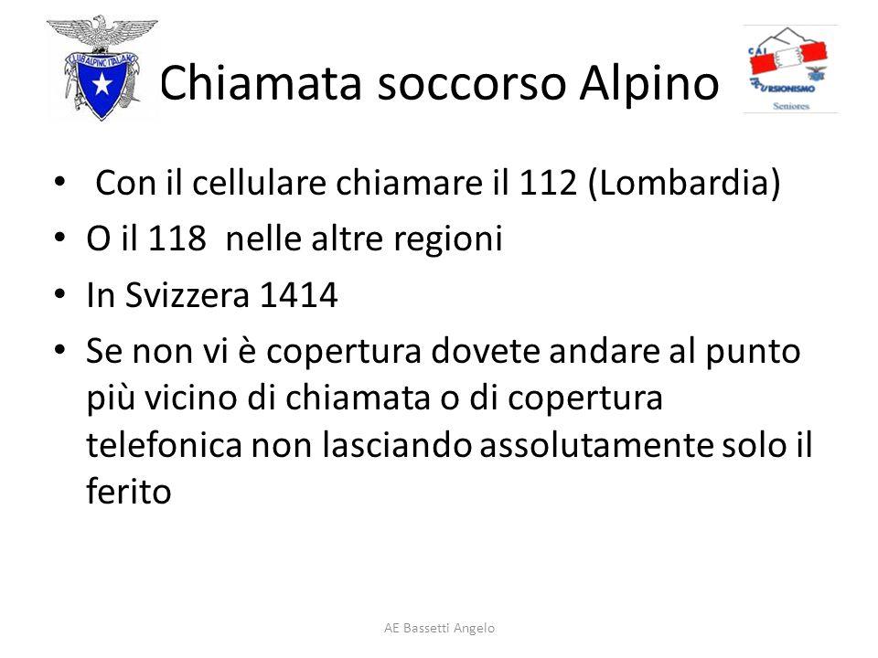 Chiamata soccorso Alpino