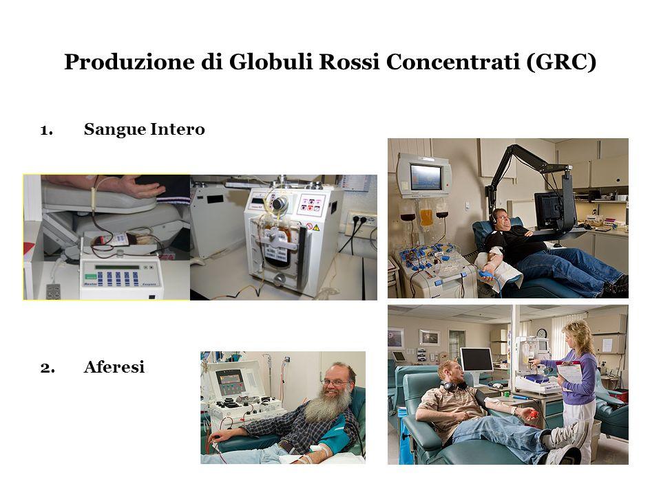 Produzione di Globuli Rossi Concentrati (GRC)