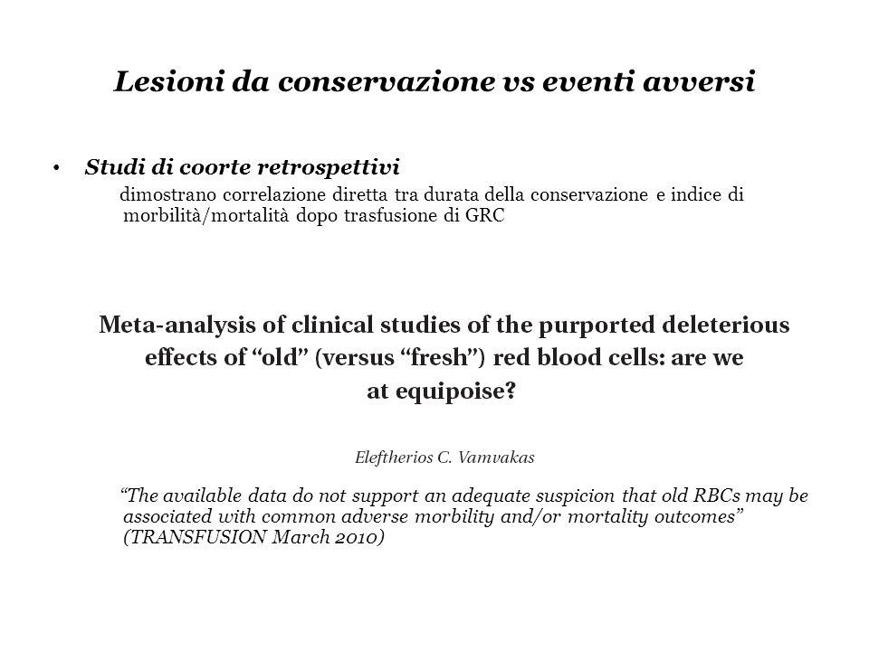 Lesioni da conservazione vs eventi avversi