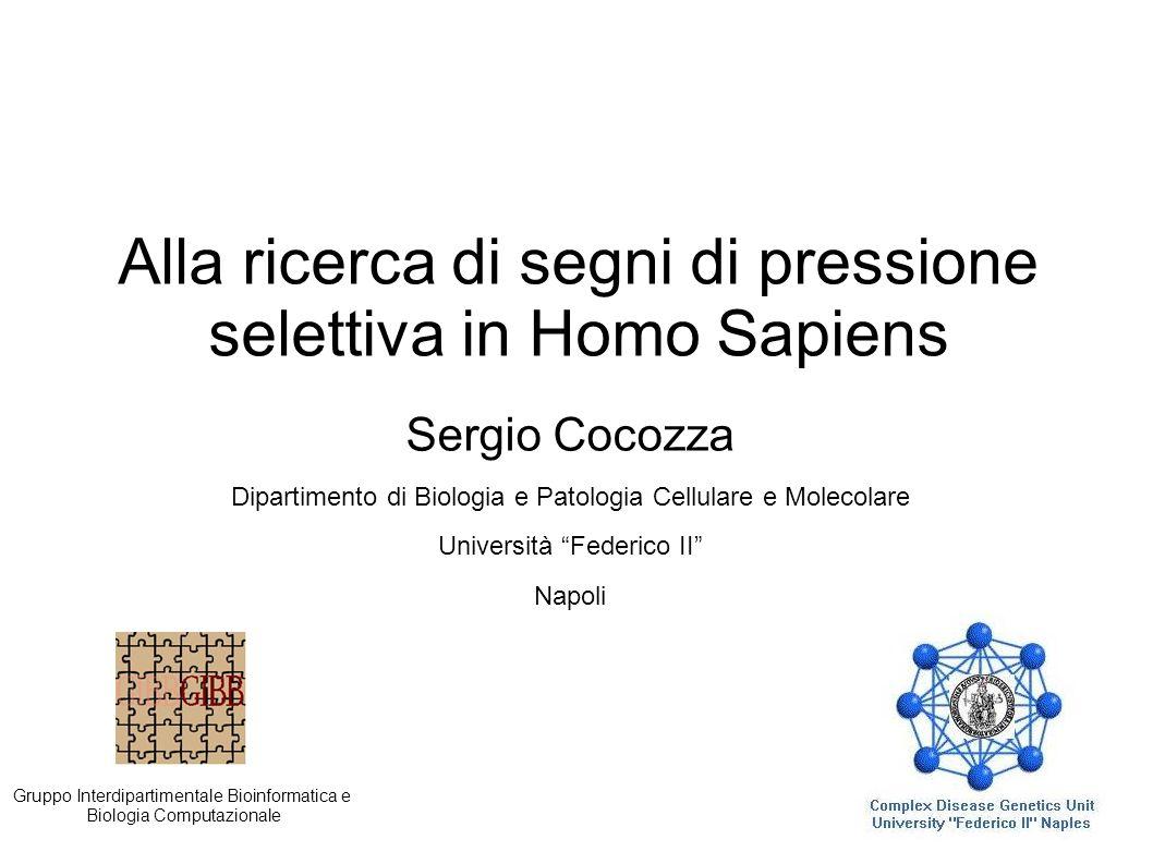 Alla ricerca di segni di pressione selettiva in Homo Sapiens