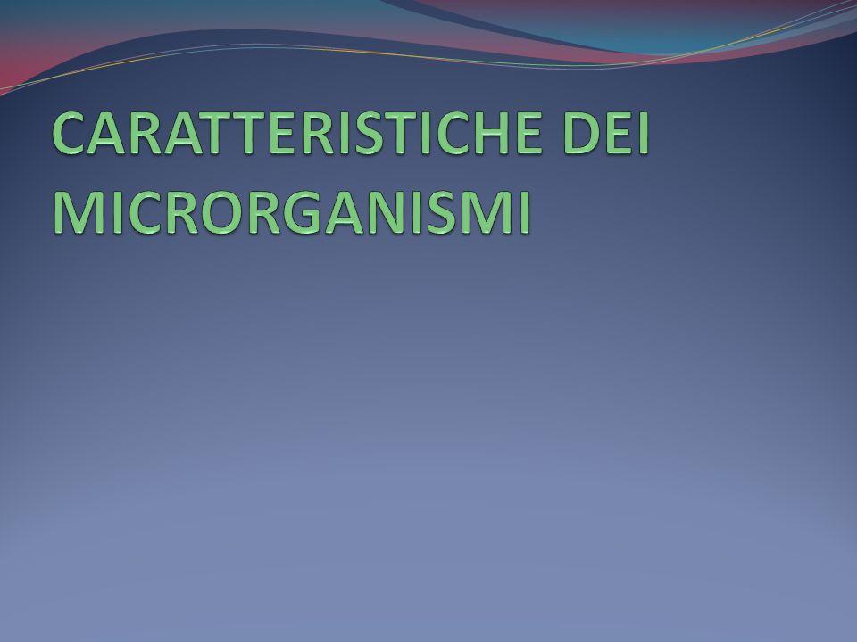CARATTERISTICHE DEI MICRORGANISMI