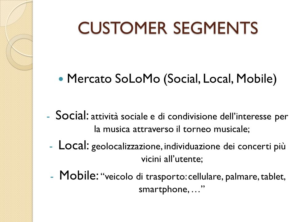 Mercato SoLoMo (Social, Local, Mobile)