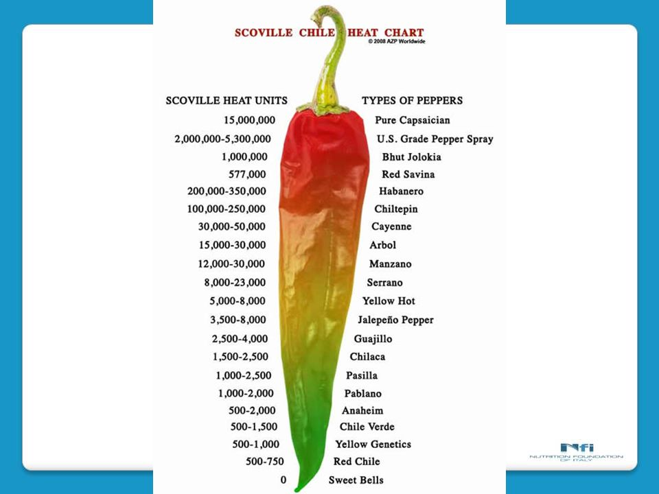 measure of the hotness of a chilli pepper.
