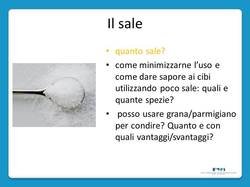 Il sale quanto sale come minimizzarne l'uso e come dare sapore ai cibi utilizzando poco sale: quali e quante spezie