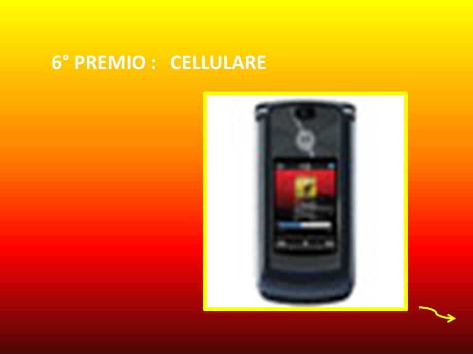 6° PREMIO : CELLULARE