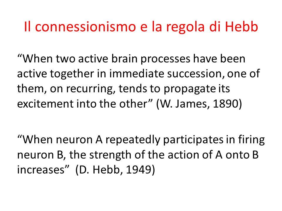 Il connessionismo e la regola di Hebb