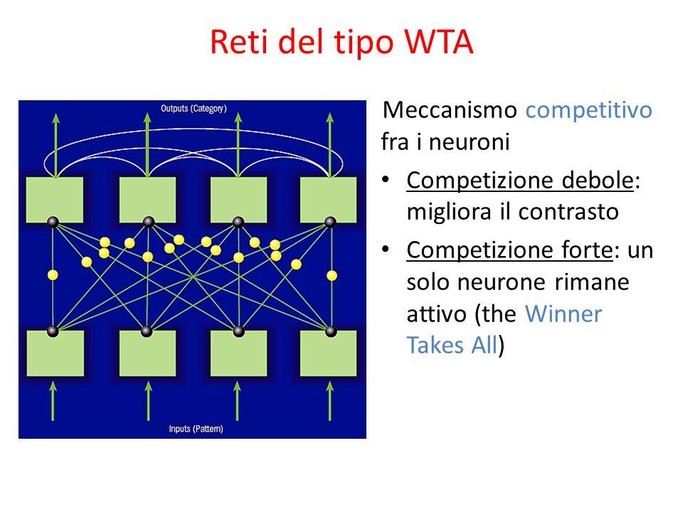 Reti del tipo WTA Meccanismo competitivo fra i neuroni