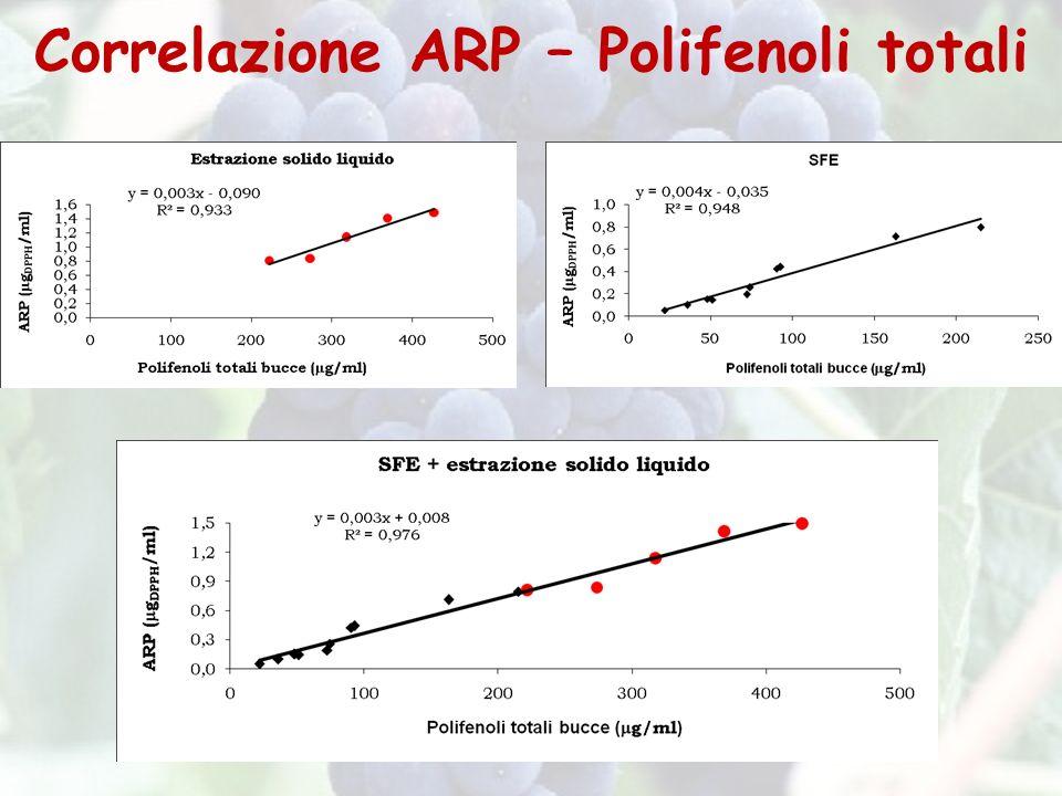 Correlazione ARP – Polifenoli totali