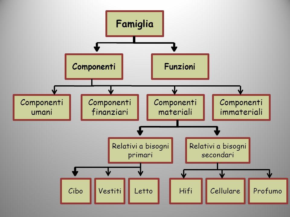 Famiglia Componenti Funzioni Componenti umani Componenti finanziari